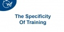 The Specificity of Training